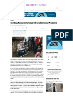 Seeding Research to Solve Intractable Social Problems - Huffington Post
