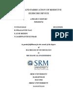 srm university project report