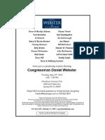 Congressman Daniel Webster Fundraiser