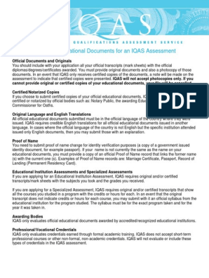 nigeria-required-educational-documents(1) pdf | Academic