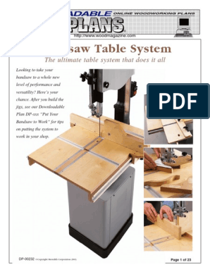 Bandsaw Table System | Screw | Cutting Tools