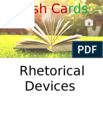 rhetorical devices flash cards