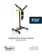 Weight Lifter Wind Turbine - For Kids to Build