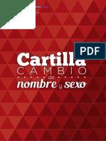 Cartilla Cambio de Nombre y Sexo