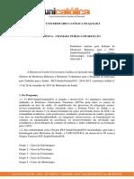 Edital Seleção PET Saúde UNICATÓLICA - 2016