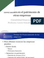 Clase 5.1 Loreto. Inversiones en El Patrimonio de Otras Empresas