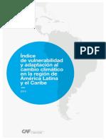 Caf Indice Vulnerabilidad Cambio Climatico