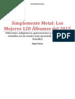 Los Mejores 120 Álbumes Del 2015