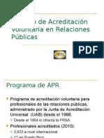Proceso de Acreditación Voluntaria en Relaciones Públicas-2010