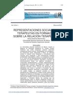 Representaciones Sociales en Terapeutas