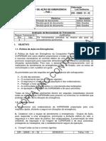 DIR - QSMS - 01 - 02 - Plano de a o de Emerg Ncia