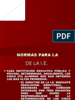 r.m. n 1225-85-Ed Cinco Primeros Pùestos