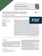 carboxihemoglobina en defunciones por intoxicacion de co2