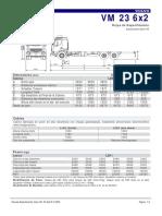 Especificaciones Tecnicas de Volvo Vm23 6x2