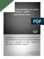 PIP MEJORAMIENTO DE LOS SERVICIOS EDUCATIVOS URIPA