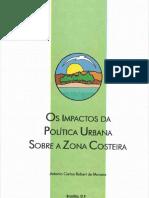 Os Impactos Da Politica Urbana Sobre a Zona Costeira MORAES