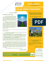 Special Edition Solar Energy Newsletter