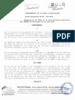 Resolucion Ejecutiva 003-2015