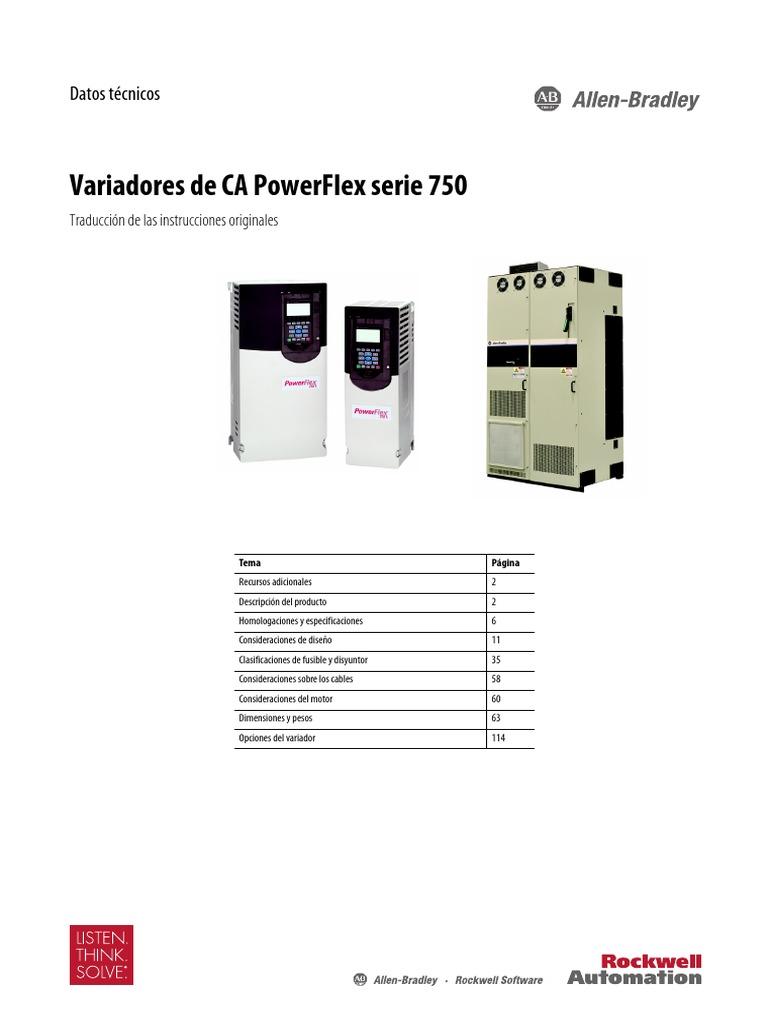 Manual Vfd Powerflex 753 de La Pellet Buhler Pt1750-Td001 ...