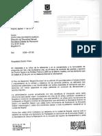 Respuesta Secretaria de Movilidad 11 de Agosto de 2015