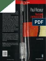 Paul Ricoeur, Tradurre l'Intraducibile, 2008