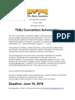 TCBJ Convention Scholarship 2016