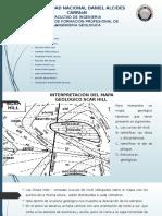 perfil longitudinal de un mapa geologico