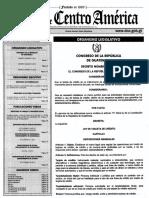Decreto 7-2015 Ley de Tarjetas de Crédito