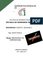 ensayo medidores de temperatura