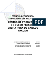 Estudio Financiero Queso y Crema