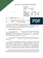 MODELO DE SOLICITUD DE INTERVENCIÓN COADYUVANTE
