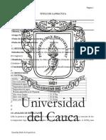 Plantilla informe de Laboratorio química general