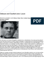Deleuze and Guattari avec Lacan | Larval Subjects .