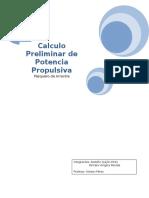 Calculo Preliminar de Potencia Propulsiva III