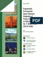Wwec Fpeis Fronti 2008 Impact Statement