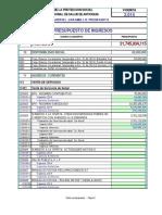 Presupuesto Ingresos y Gastos Aprobado 2014