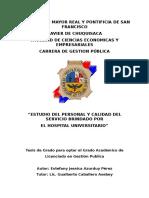 Tesis de Grado para optar el Grado Académico de Licenciado en Gestión Publica