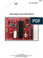 User Manual DTMF