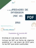 Propiedades de Inversion Nic 40