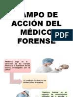 Campo de Acción Del Médico Forense