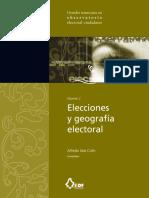 INE. Elecciones y Geografía Electoral