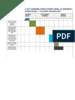 Cronograma de Campaña Publicitaria Para La Empresa Multinacional