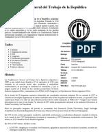 Confederación General Del Trabajo de La República Argentina - Wikipedia, La Enciclopedia Libre