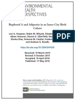 Bisphenol A and Adiposity in an Inner-City Birth Cohort