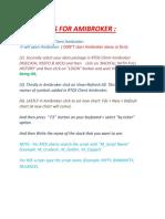Rtds Amibroker Easy Tutorial