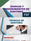 Exposicion Tecnicas y Procedimientos de Auditoria