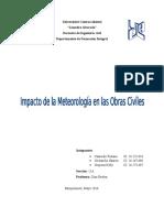 Impacto de La Meteorología en Las Obras Civiles