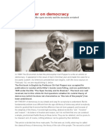 Karl Popper y La Democracia