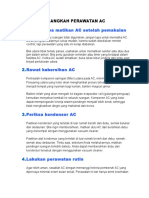 4 Langkah Perawatan Ac
