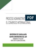 Proceso Administrativo en El Comercio